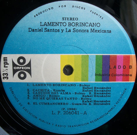 Orfeón 120 - A, éxitos en latino-américa.