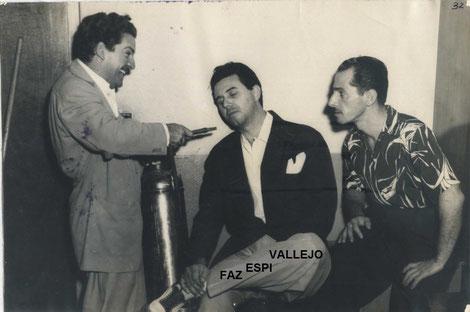 Roberto Faz, Roberto Espí y Orlando Vallejo.