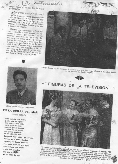 Página No. 2, entrevista a José Berroa.