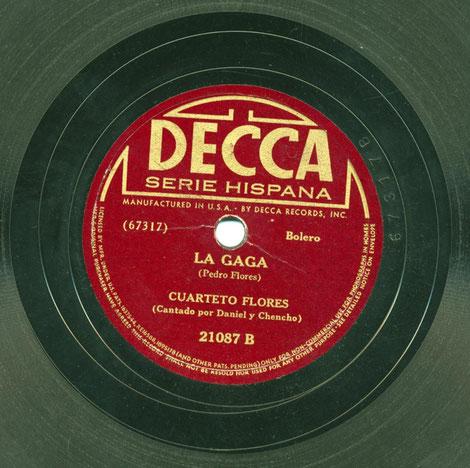 """Decca 21087-B, """"La gaga""""."""