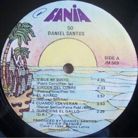 50 Daniel Santos - Fania 569 - Sello A.