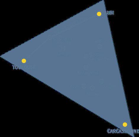"""Le """"triangle d'or"""" Albi-Toulouse-Carcassonne, territoire historique de la culture du Pastel"""
