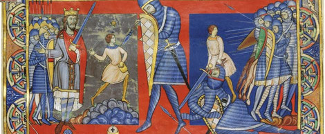 1160-1180 ; MRMSS ; MS M.619 Winchester Bible ; David et Goliath