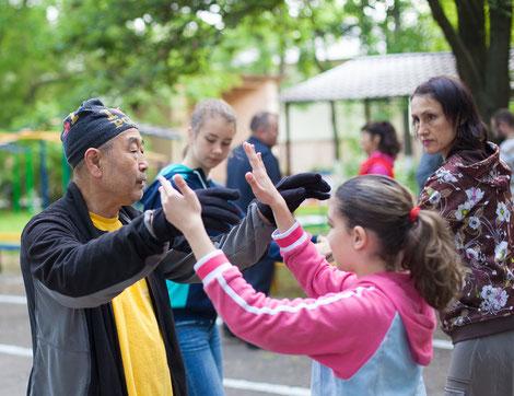 Мастер Му Юйчун дает семинар в Одессе