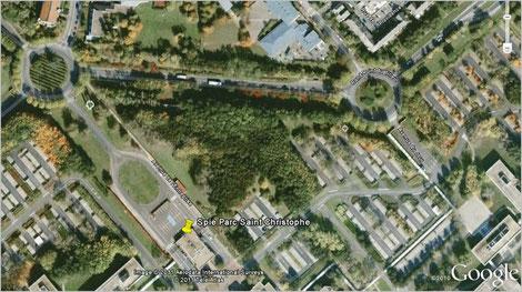 Entrée du Parc Saint Christophe, avenue de l'Entreprise à Cergy Pontoise