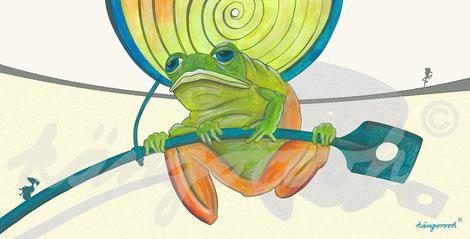 Postkarte: Frosch Benedikt