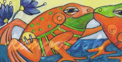 Postkarte: liebhaber in blau /kängorooh/ 2016