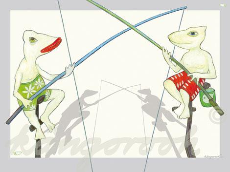 Plakat: die Angler / kängorooh / 2016