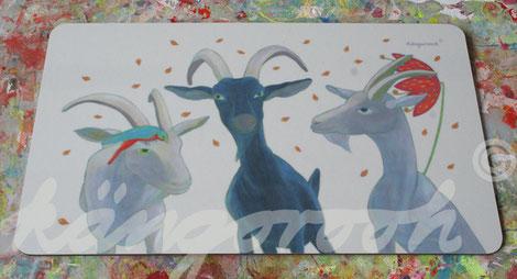 Brettchen: ziegen freundinnen/ kängorooh /2018