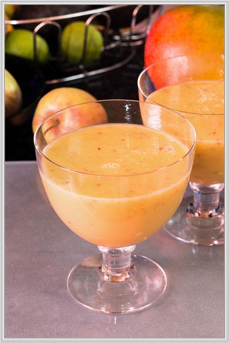 Rezept für ein Fruchtsmoothie mit Avocado