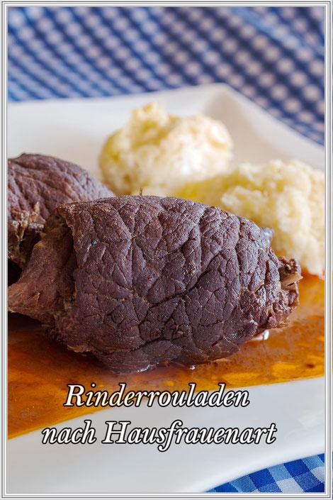 Rinderrouladen nach Hausfrauenart Rezepteblog © mjpics  Jutta M. Jenning