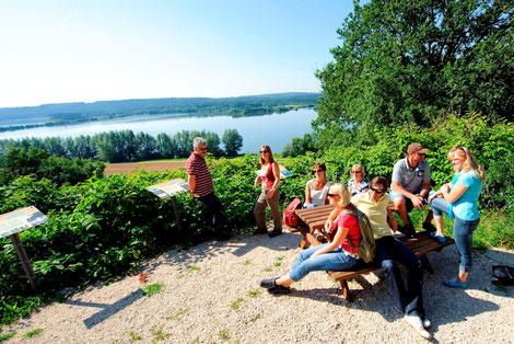 Wandern,Spazieren,Familie,Brombachsee,Fränkisches Seenland
