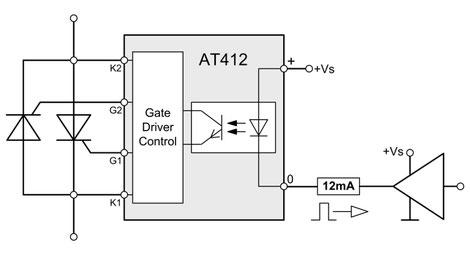 Das Thyristor AT412 Trigger Modul für Netzspannung 100-690Vrms wurde für Anwendungen konzipiert, bei denen mit einem Steuersignaleingang zwei Thyristoren angesteuert werden, wobei diese im Nulldurchgang schalten.