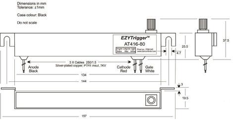 Das Thyristor AT416 Trigger Modul wurde für galvanisch getrennte Anwendungen konzipiert, bei denen Hochleistungs-Thyristoren optisch angesteuert und unter schwierigen Einsatzbedingungen, von einem Mikrocontroller angesteuert werden.