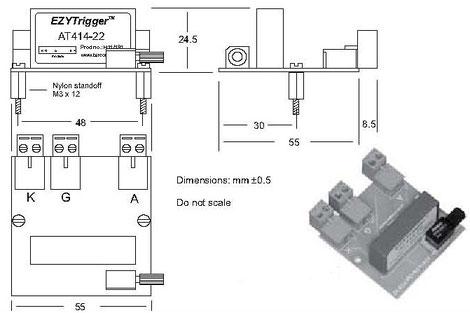 Die Thyristor Trigger-Platine BT414 wurde für galvanisch getrennte Anwendungen konzipiert, bei denen Thyristoren, unter schwierigen Einsatzbedingungen, angesteuert werden. Alle EZYTrigger Module zeichnen sich durch eine sehr hohe Störfestigkeit aus.