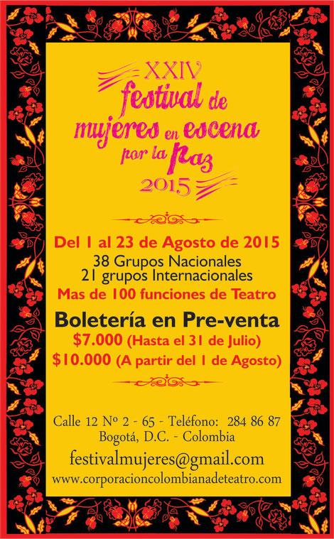Preventa Festival de Mujeres en Escena por la paz 2015