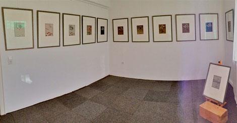 """Unter dem Titel """"abstracts"""" in der tOG - take OFF GALLERY Düsseldorf zeigt Annette Palder """"Die Vögel"""" 16 Radierungen von Annette Palder"""