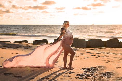 zwangerschapsshoot goldenhour locatie