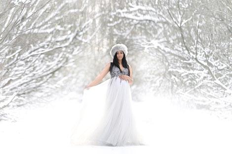 zwangerschaps fotografie sneeuw  locatie