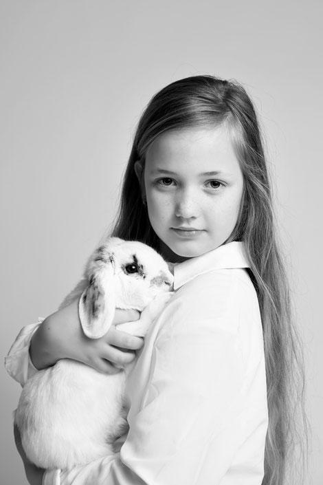 kids fotoshoot huisdier