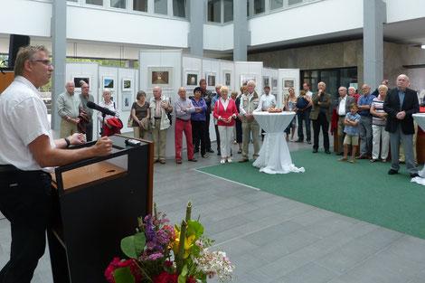 1. LV DVF Saarland, Bernhard Leibold bei seiner Eröffnungsansprache