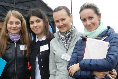Betreuerinnen einer deutschen Reisegruppe