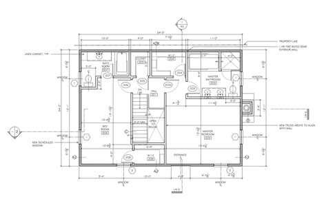 Second Floor Plan - Bedrooms