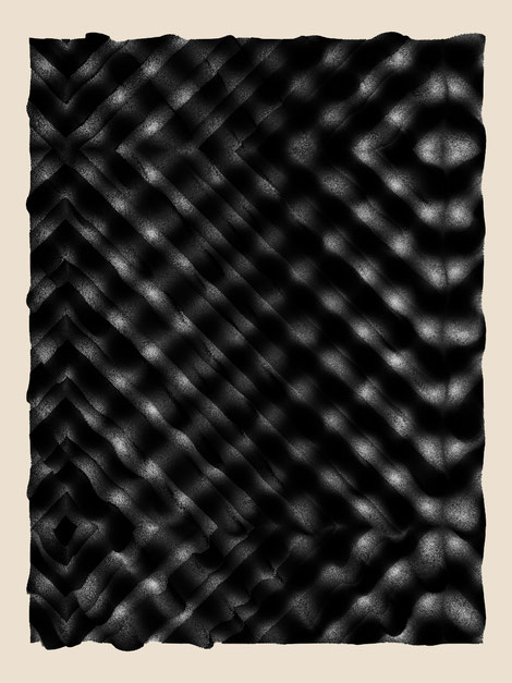 "Relief #21, dimensions variable, exhibited version at the show ""Line and Surface"": 160 × 120 cm, digital print on Hahnemühle paper"