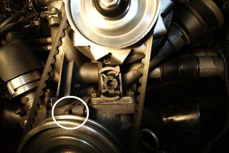 Trennfuge der beiden Motorenhälften
