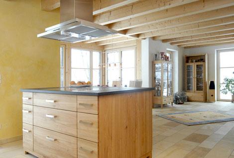 Lehmbauplatten mit modernster Spachteltechnik und Farbgestaltung auch als Decken- und Wandheizung möglich