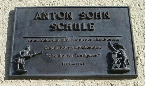 Gedenktafel für Anton Sohn