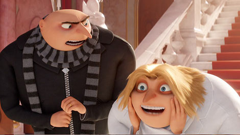 Steve Carrell plays twins Gru & Dru in Despicable Me 3.  (Click the photo to read more)