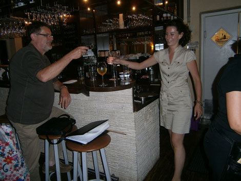 Sabrina Zekanovic mit Stammgast, Foto: Christa Gölden