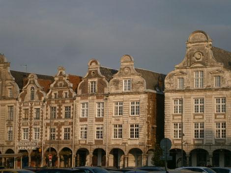 Arras flandrische Fassaden, Frankreichreisen