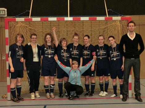 Team B nach dem 2. PLatz im Finale der Hallenkreismeisterschaft