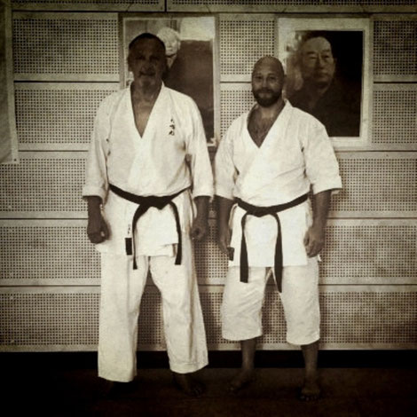 links: Sensei Risto Kiiskilä, 6. Dan DJKB-Instructor, rechts: Erol Alp