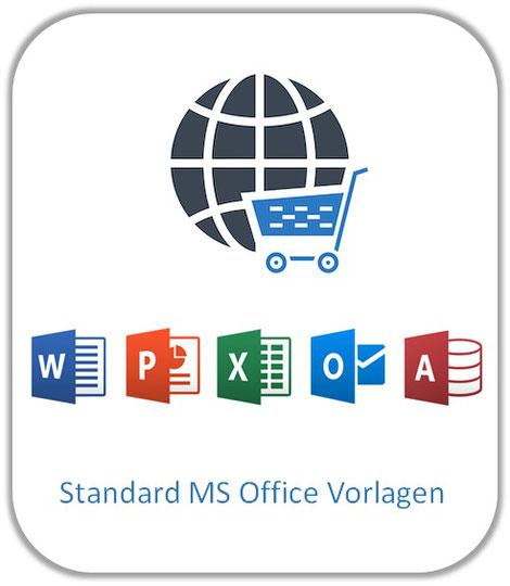 Standard MS Office Vorlagen, Excel Vorlage, Word Vorlage, PowerPoint Vorlage, Outlook, PDF Vorlage