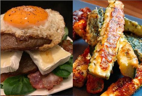 Camembert Burger Zucchini Pommes Fritten Travel Keto Keto Ratgeber
