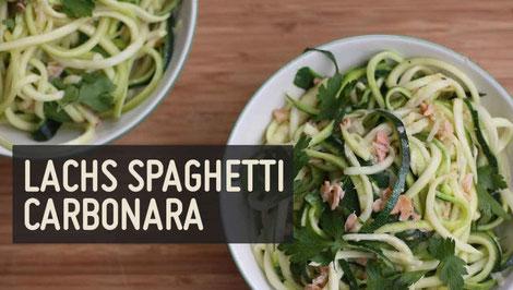 Lachs-Spaghetti-Carbonara von Paleo 360