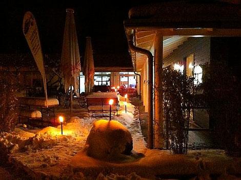 Weihnachten, Restaurant, Schnee, Winter, Weihnachtsfeier