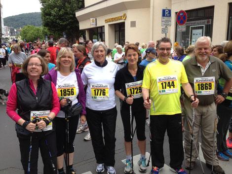 Höchster Kreisstadtlauf 2014 - 10 km Nordic Walking