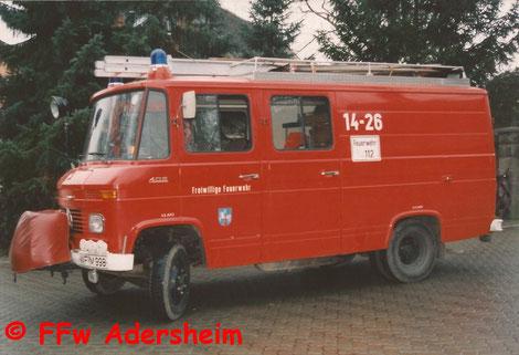 LF 8 als Übergangsfahrzeug