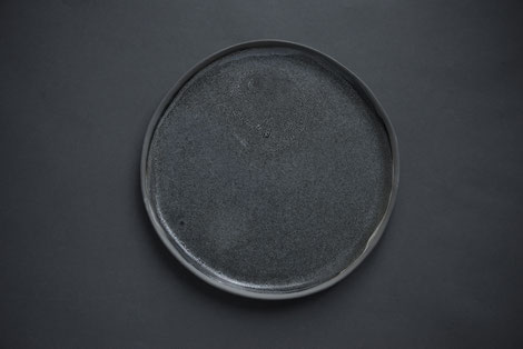 rustic handmade nordic tableware, dark, monochrome