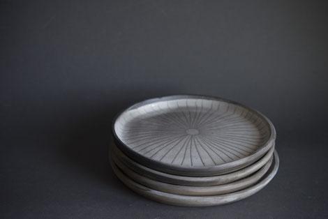 sun pattern sgarffito engraved traditonal contemporary pottery latvian burnished wood fired