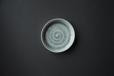 turquoise, white, purple crystalline tableware, handmade porcelain