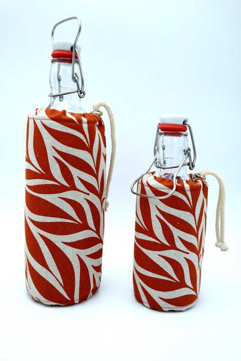 Flaschenbezug - Palme ´rot`