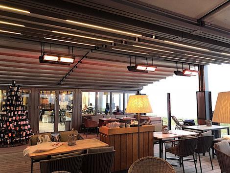Infrarot Heizung für Gastronomie Hotel und Restaurant Terrasse