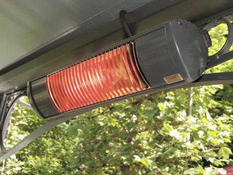 Wärmestrahler für Terrasse und Garten