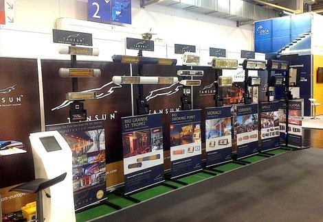 Ausstellung Infrarot Wärmestrahler auf Messe