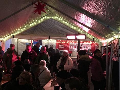 Zeltheizung für Weihnachtsmarkt und Schausteller
